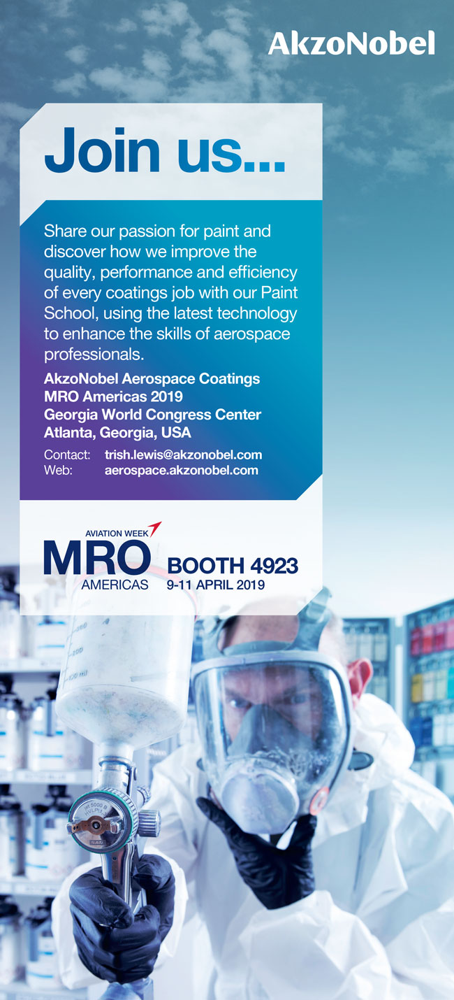AkzoNobel Aerospace Coatings | Aviation Week | MRO Americas 2019