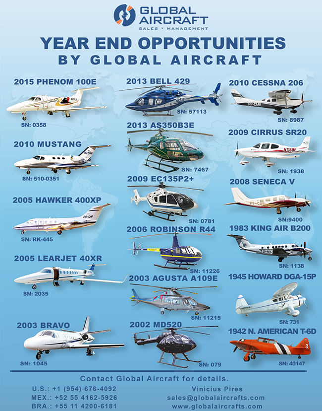 Global Aircraft | Aircraft for Sale. Great Year End Opportunities!