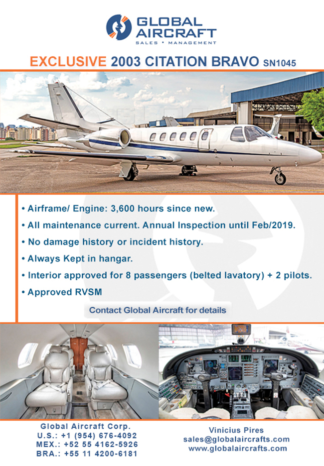 Global Aircraft | Exclusive Jet 2003 Citation Bravo for Sale!