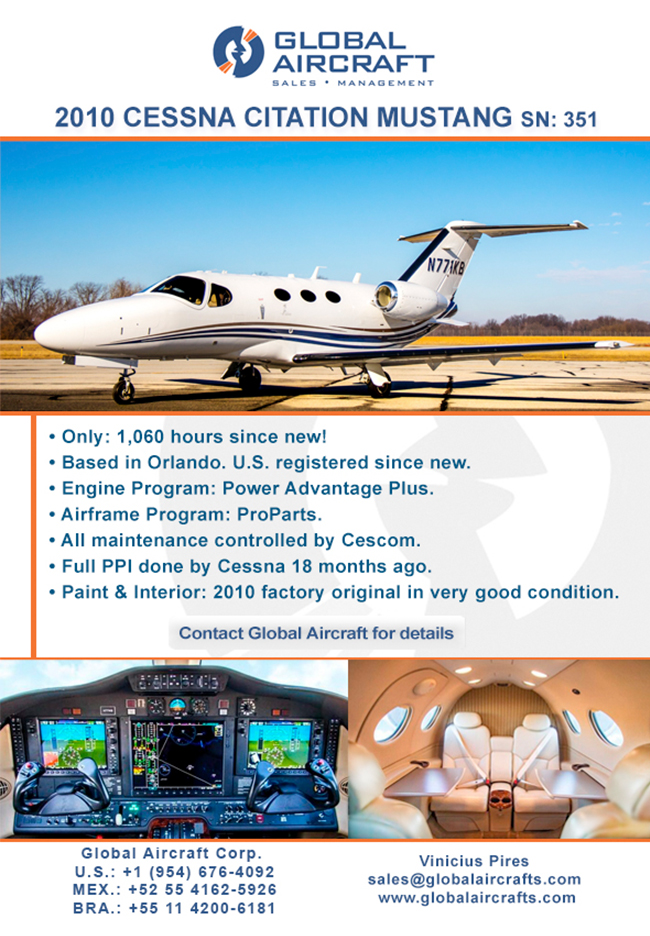 Global Aircraft | U.S. Based 2010 Citation Mustang for Sale!