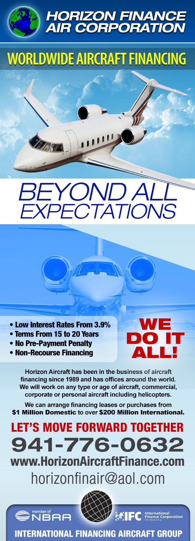 Horizon Finance Air Corporation | Worldwide Aircraft Financing