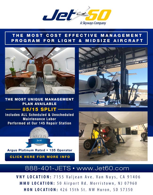 Jet 60 - A Skyways Company   Full Light Midsize Jets Maintenance Services