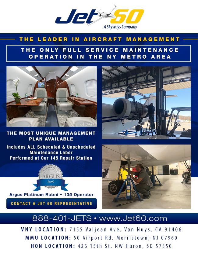 Jet 60 - A Skyways Company | Full Light Midsize Jets Maintenance Services