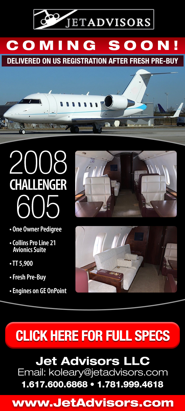 Jet Advisors | OFF MARKET 2008 Challenger 605 For Sale