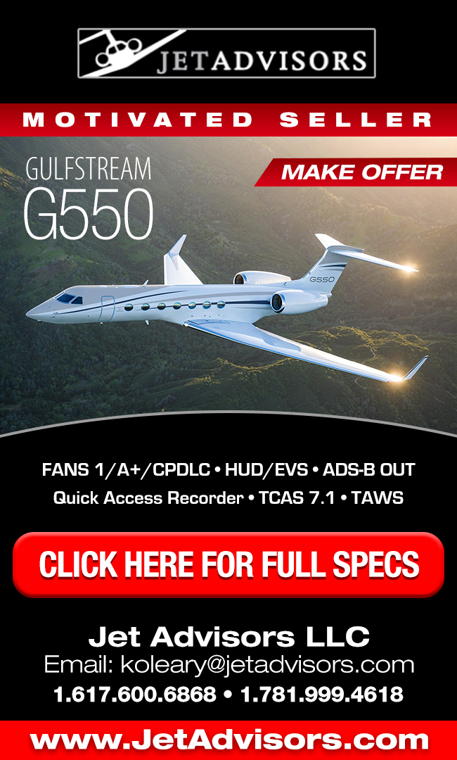 Jet Advisors | Gulfstream G550 For Sale