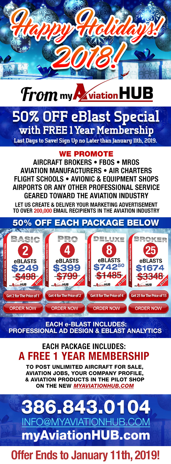 Holidays 2018 Special | myAviationHUB Aviation and Aircraft Marketing