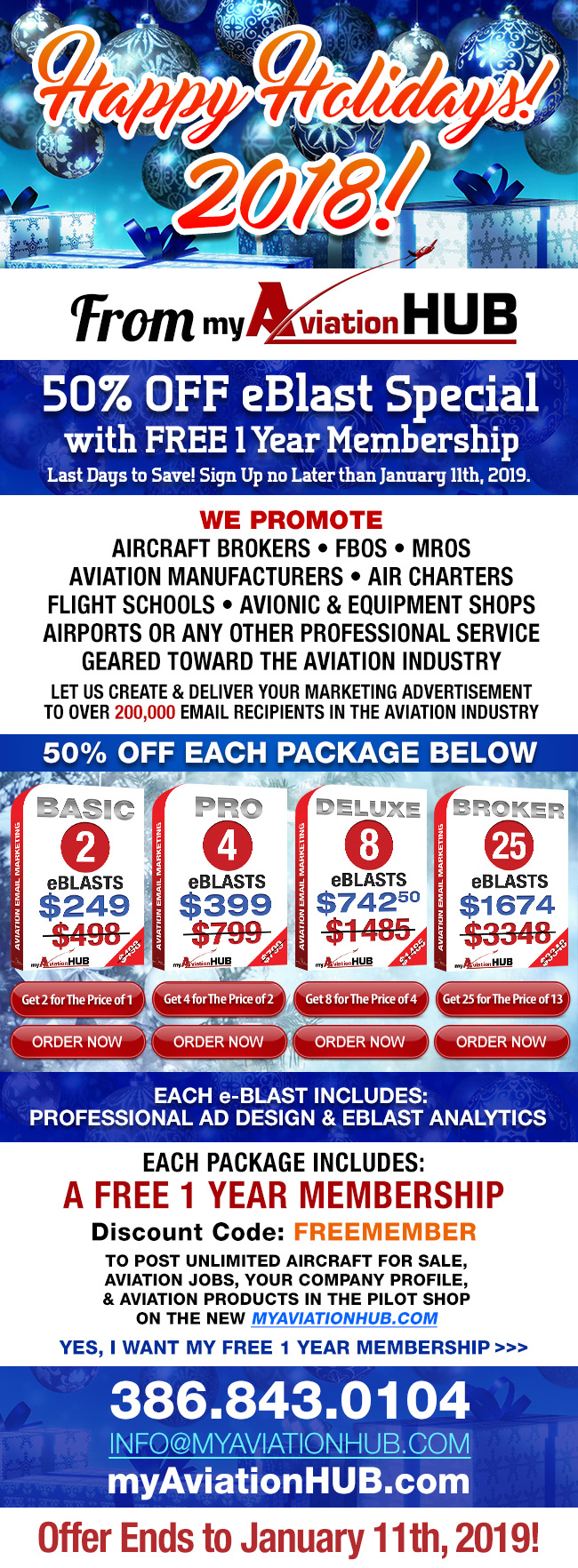 Holidays 2018 Special | myAviationHUB Aviation and Aircraft Marketing