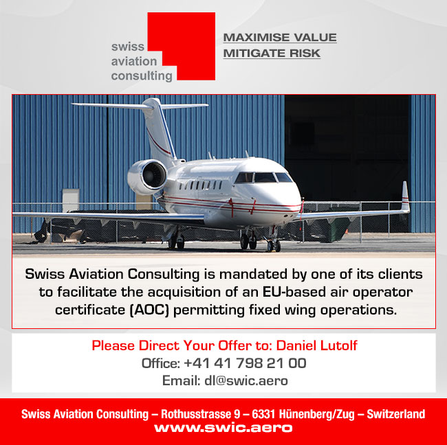 Swiss Aviation Consulting | AOC Wanted